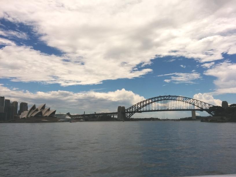 Vue depuis le ferry sur le Sydney Harbour, New South Wales