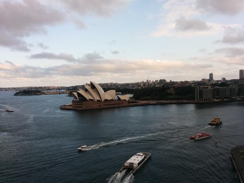 Opera House vu depuis le Harbour Bridge, Sydney, New South Wales