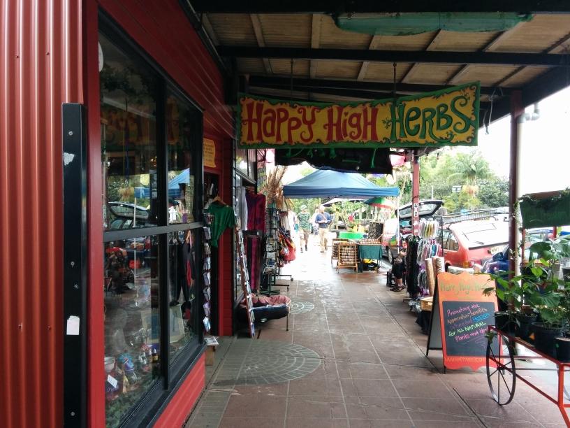 Happy High Herbs shop de Nimbin, New South Wales