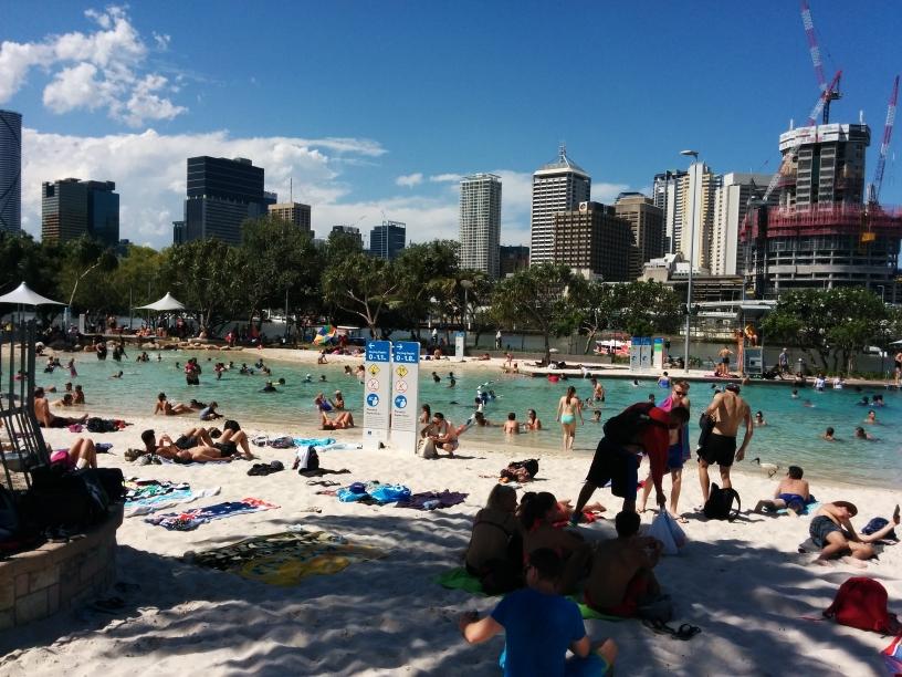 Lagoon dans le quartier de South Bank, Brisbane, Queensland