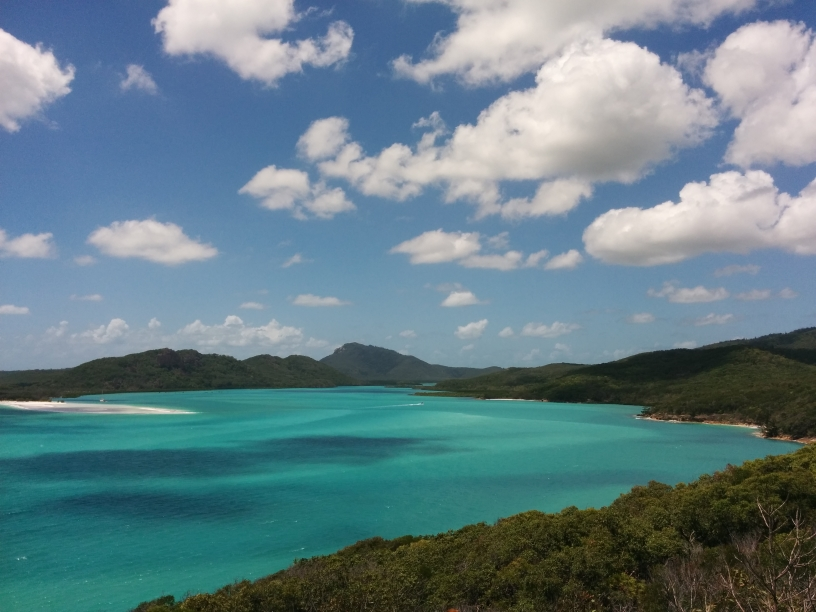 Vue dans les Whitsundays Islands depuis Hill Inlet, Queensland