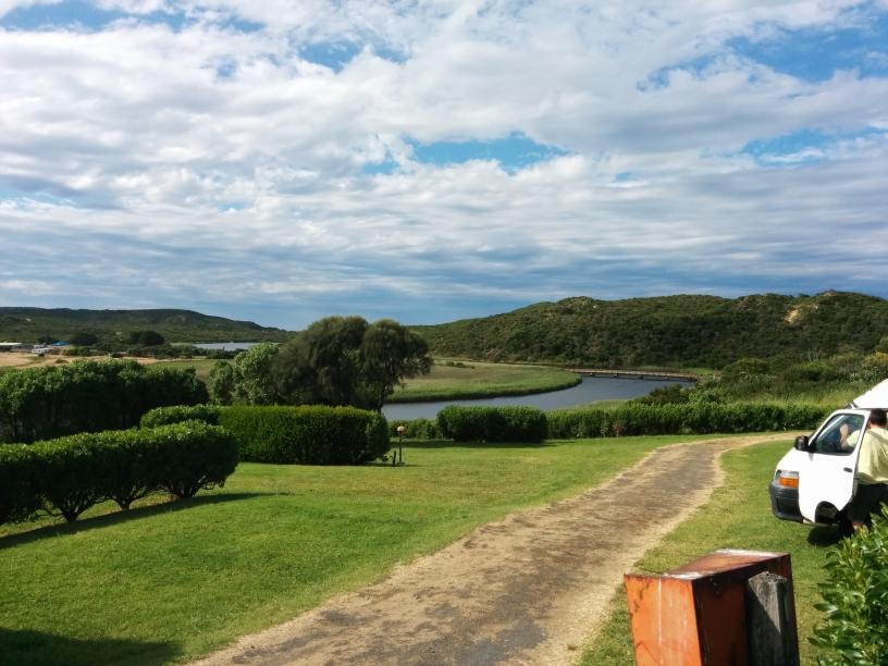 Vue depuis le camping, Princetown, Victoria
