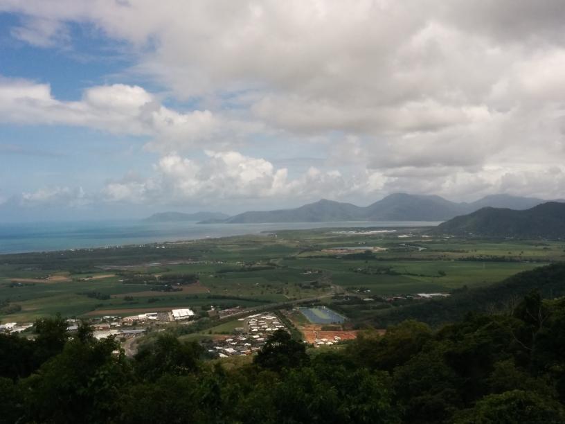 Panorama sur Cairns depuis la montée vers Kuranda, Queensland
