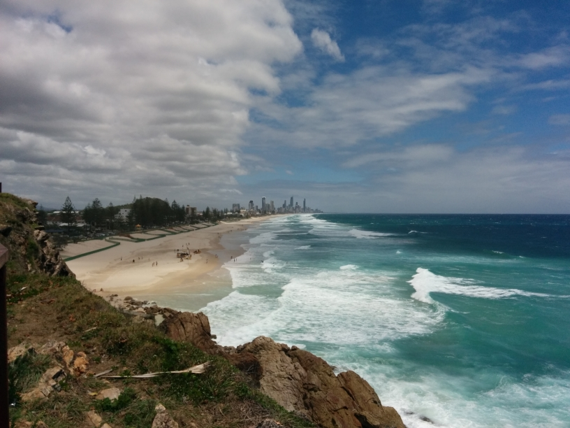 Miami Beach avec Surfers Paradise en font (Gold Coast, Queensland)