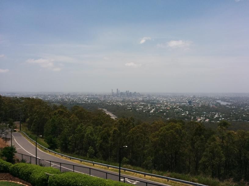 Vue du CBD de Brisbane depuis le mont Coot-Tha, Brisbane, Queensland